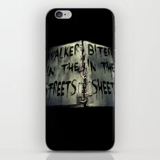 Walker in the Streets, Biter in the Sheets iPhone Skin