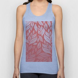LIVING CORAL LEAVES 2 Unisex Tank Top