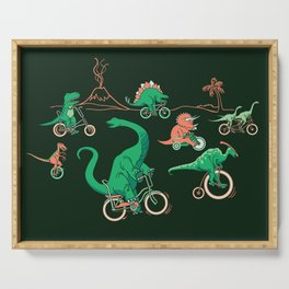 Dinosaurs on Bikes! Serving Tray