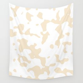 Large Spots - White and Champagne Orange Wall Tapestry