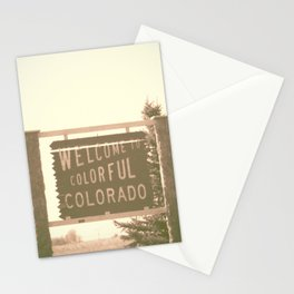 welcome to colorful colorado Stationery Cards