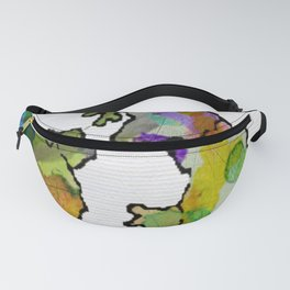 United Kingdom Watercolour Map Fanny Pack