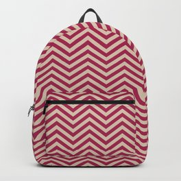 Pink pattern curved lines Backpack