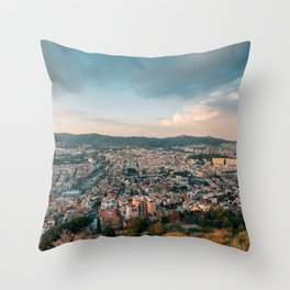 Over Barcelona 03 Throw Pillow