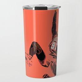 """Rodman Art and Poster AKA """"The Worm"""" Travel Mug"""