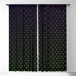 Ombre stars on black background Blackout Curtain