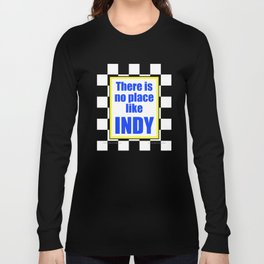 There Is No Place Like INDY, blue & yellow Long Sleeve T-shirt