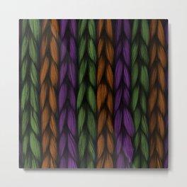 Background weave plait purple Metal Print
