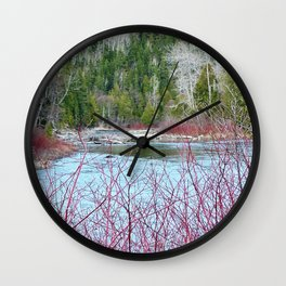 River of Trees Wall Clock