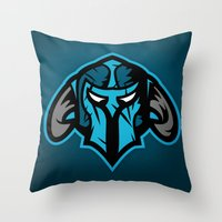 guardians Throw Pillows featuring Guardians by Foxwilleau