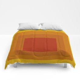 Block Colors - Yellow Orange Red Comforters