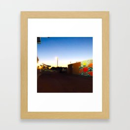 After Dark at the Waterpark Framed Art Print