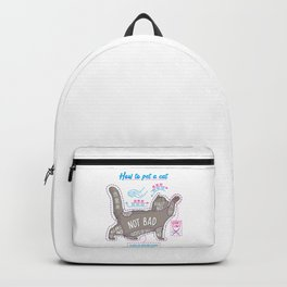 How to pet a cat Backpack