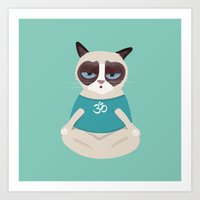 yoga Art Prints featuring Yoga by My Studio