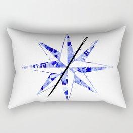 Compass Logo Diamond Rectangular Pillow