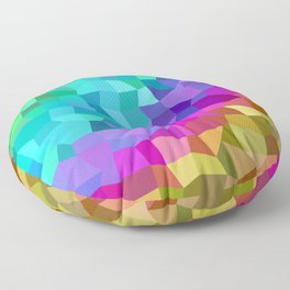 Multicolor mosaic tiles Floor Pillow