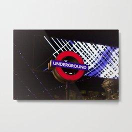 London Underground sign oxford circus Metal Print