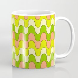 Squiggles - Green/Pink Coffee Mug