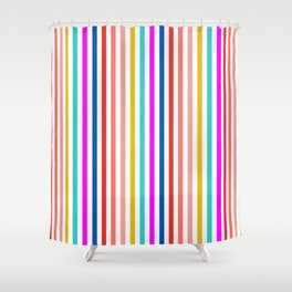 Summer Stripe in Vibrant colors Shower Curtain