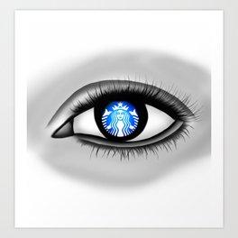 Starbucks Eye Art Print