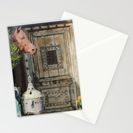 Horse head and antiques Stationery Cards