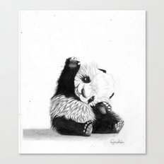 The Friendly Panda  Canvas Print