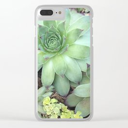 Succulants Clear iPhone Case