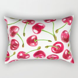 Watercolor cherries pattern Rectangular Pillow
