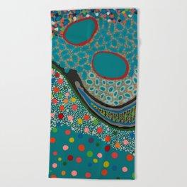 Untitled, blue Beach Towel