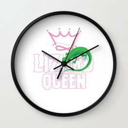Pets Herpetology Reptilian Cold Blooded Animal Gift Lizard Queen Reptile Alligator Wall Clock