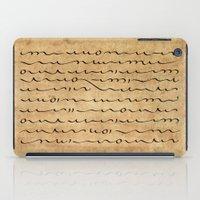 bible verses iPad Cases featuring Asemic Script Verses by Lestaret