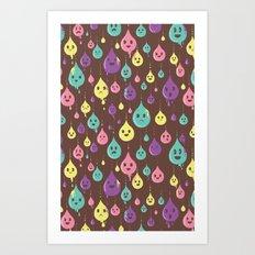 Drops and Drops Art Print