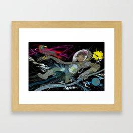 Space Traveller Framed Art Print