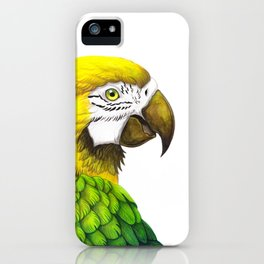 Green Macaw iPhone Case