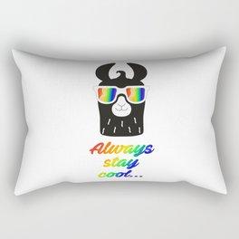 Cool llama Rectangular Pillow