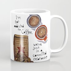 Watercolor - COMMITTED RELATIONSHIP, Coffee Art Coffee Mug