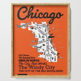 Great Cities: Chicago Serving Tray