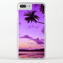 Palm Trees at Sunset Clear iPhone Case
