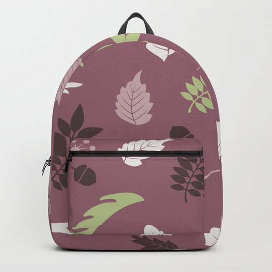 COLORED LEAVES P  (abstract pattern) Backpack