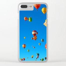 Cartoon Ballons Clear iPhone Case