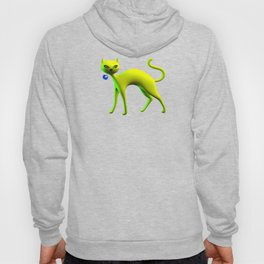 The Yellow Cat And Glass Blue Cherry Hoody