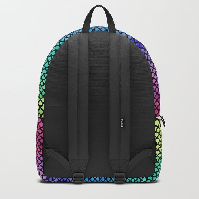 Rainbow Mermaid Tail Backpack