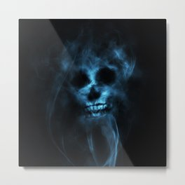 SMOKE SKULL Metal Print