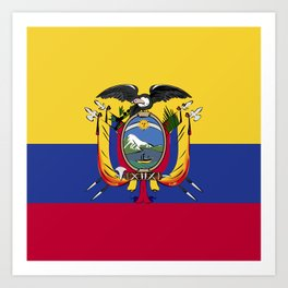 Ecuador flag emblem Art Print