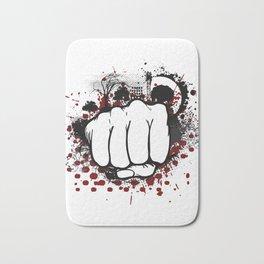 Grunge Fist Punch Bath Mat