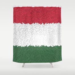 Extruded flag of Hungary Shower Curtain