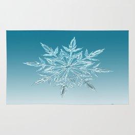 Blue Green Ice Crystal Rug