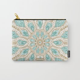 MMMOYSTERS Gold-Rimmed Oyster Mandala Carry-All Pouch