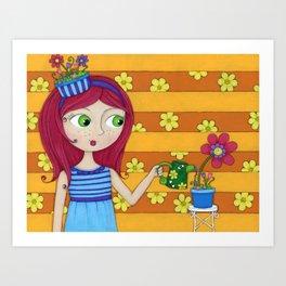 April's Flowers Art Print