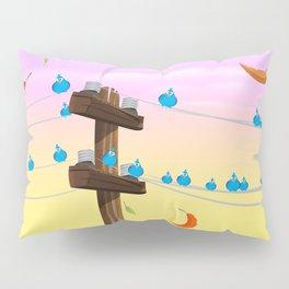 Birds on a wire Pillow Sham